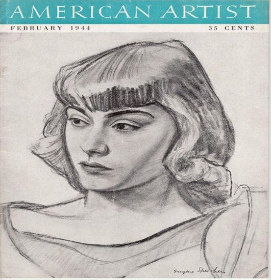 AMERICAN ARTIST Magazine February 1944 Watson-Guptil Publication Magazine Back Issue
