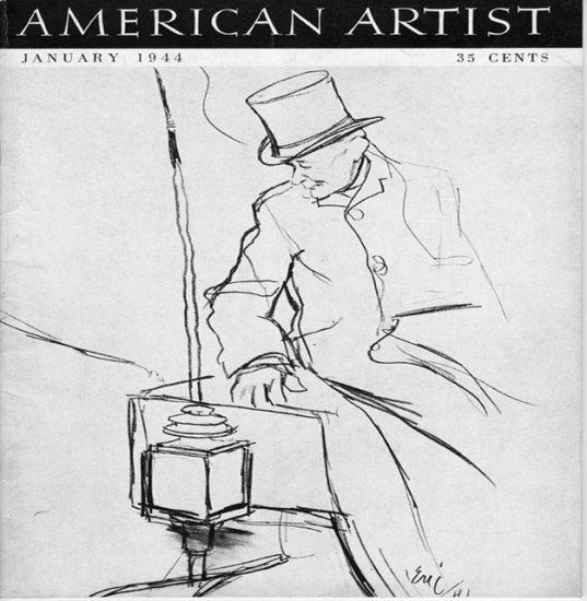 AMERICAN ARTIST Magazine January 1944 Watson-Guptil Publication Magazine Back Issue