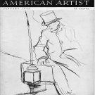 AMERICAN ARTIST Magazine January 1944 Watson-Guptil Publication Magazine Back Issue