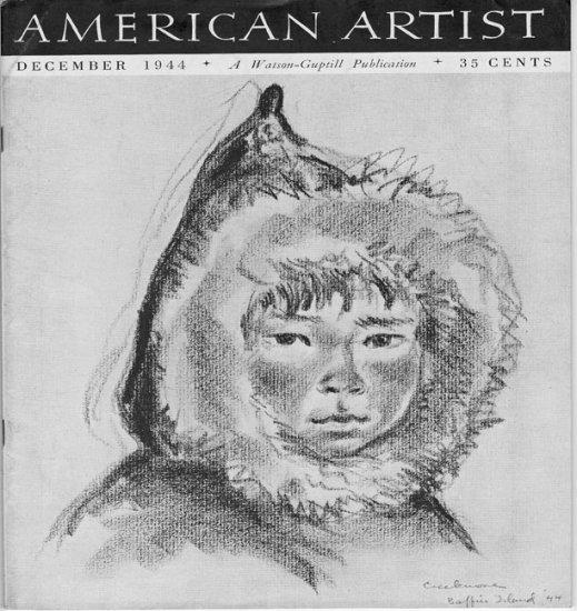 AMERICAN ARTIST Magazine December 1944 Watson-Guptil Publication Magazine Back Issue