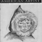 AMERICAN ARTIST Magazine December 1944 Watson-Guptil Publication Magazine Back Issue