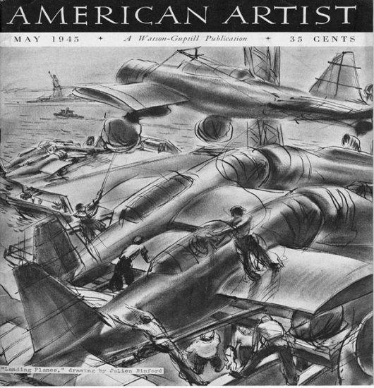 AMERICAN ARTIST Magazine May 1945 Watson-Guptil Publication Magazine Back Issue