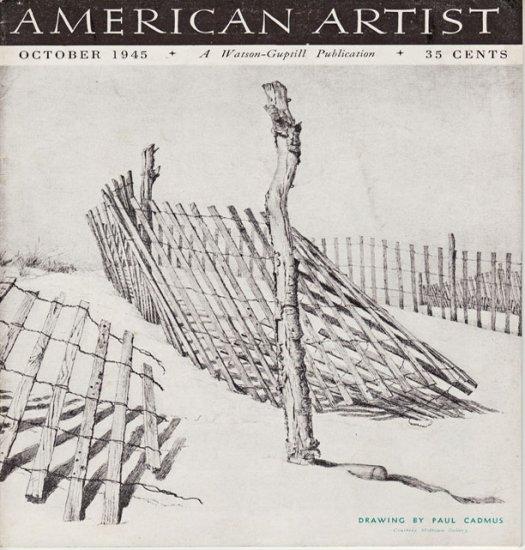 AMERICAN ARTIST Magazine October 1945 Watson-Guptil Publication Magazine Back Issue