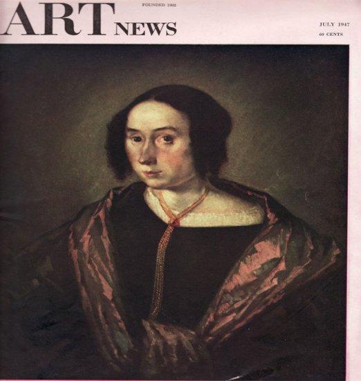 ARTnews Magazine July 1947 Art Illustrations Articles Magazine Back Issue