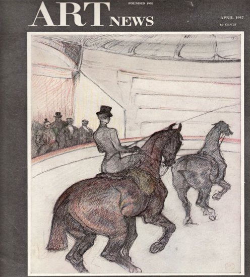 ARTnews Magazine April 1947 Art Illustrations Articles Magazine Back Issue