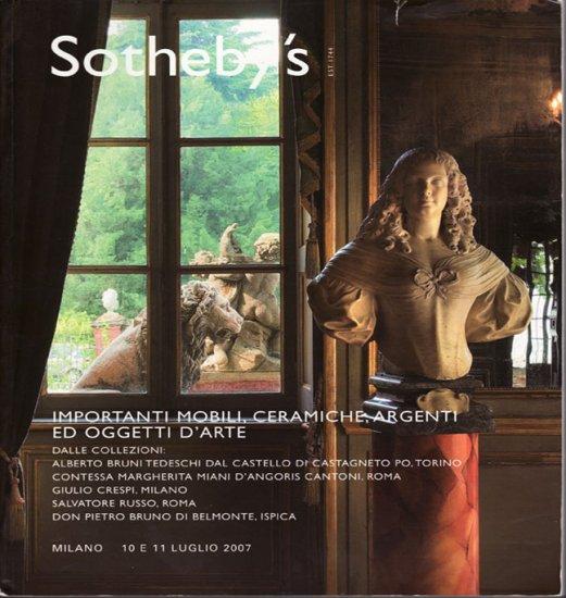 Sotheby's Italian Decorative Arts Milan Ceramics Auction and Exhibition Catalog July 2007