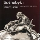 Sotheby's Important English and Continental Silver and Objects of Vertu Auction Catalog 2007