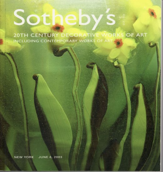 Sotheby's 20th Century Decorative Works of Art  Contemporary Art June 2003 Auction Catalog