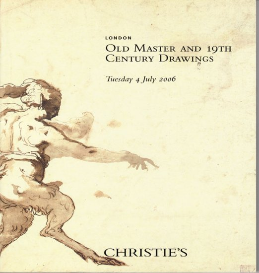 Christie's Old Master and 19th Century Drawings Han Hoffmann London 2006 Auction Catalog
