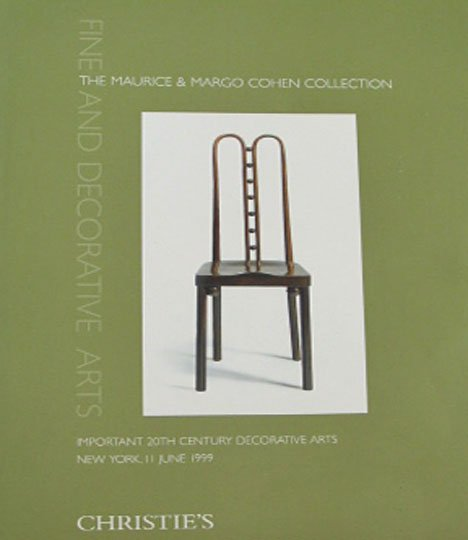Christie's Maurice and Margo Cohen Collection Fine and Decorative Arts Auction Catalog New York 1999