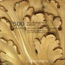 Christie's 500 Years Fine and Decorative Arts Catalog Europe Carpets November 2009