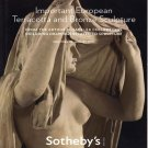 Sotheby's Important European Terracotta and Bronze Sculpture New York January 2010 Auction Catalog