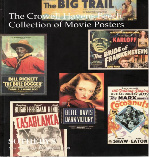 Sotheby's The Crowell Havens Beech Collection of Movie Posters Auction Catalog New York 1998