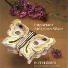 Sotheby's Important American Silver Auction Catalog Niederhoffer Collection New York 1998