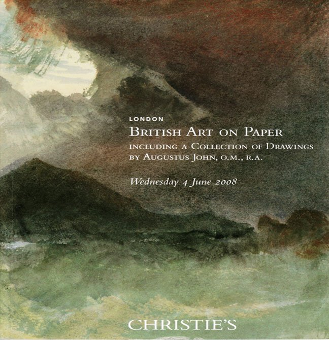 Christie's British Art on Paper Drawings of Augustus John Patrick Heron Auction Catalog 2008