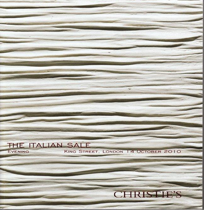 Christie's The Italian Sale Auction Catalog  Paintings Bronze Sculptures  Achrome London 2010