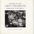 Record of The Art Museum Princeton University No. 1 Volume XVII 1958 Daniel Seghers  Softcover Book