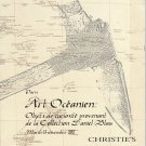 Christies Oceanic Art Auction Catalog featuring the Collection of Daniel Blau  2011 Paris