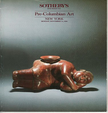 Sotheby's Pre-Columbian Art  Auction Catalog Property from Various Owners New York 1986