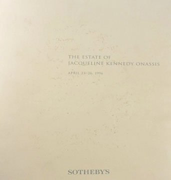 Sotheby's The Estate of Jacqueline Kennedy Onassis Auction Catalog Softcover New York 1996