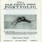The Old Print Shop Portfolio 20th Century Artists Catalog Volume LXI  Number 3 Softcover 2001