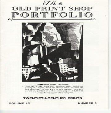 The Old Print Shop Portfolio Volume LV Number 3 Twentieth-Century Prints Catalog Softcover