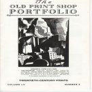 The Old Print Shop Portfolio Volume LV Number 3 Twentieth-Century Prints Catalog Softcover