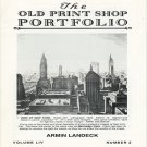 The Old Print Shop Portfolio Volume LIV Number 2 Armind Landeck Catalog Robert S. Newman Softcover