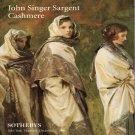 Sotheby's John Singer Sargent Cashmere  Alpine Studies Painting Auction Catalog December 1996