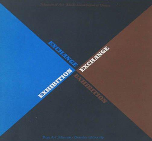 Exhcange Exhibition Museum of Art Rhode Island School of Design Catalog 1967 Softcover
