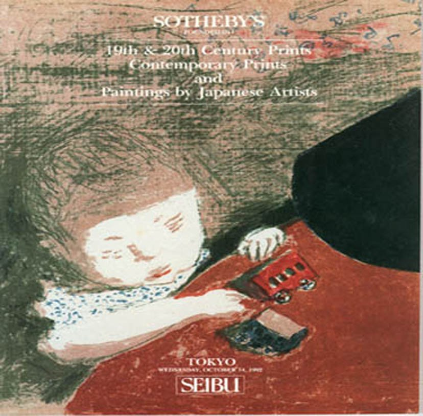 Sotheby's 19th & 20th Century Prints and Paintings by Japanese Artists Auction Catalog October 1992