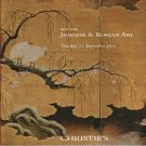 Christies Japanese & Korean Art Auction Catalog featuring Private Collections 2012