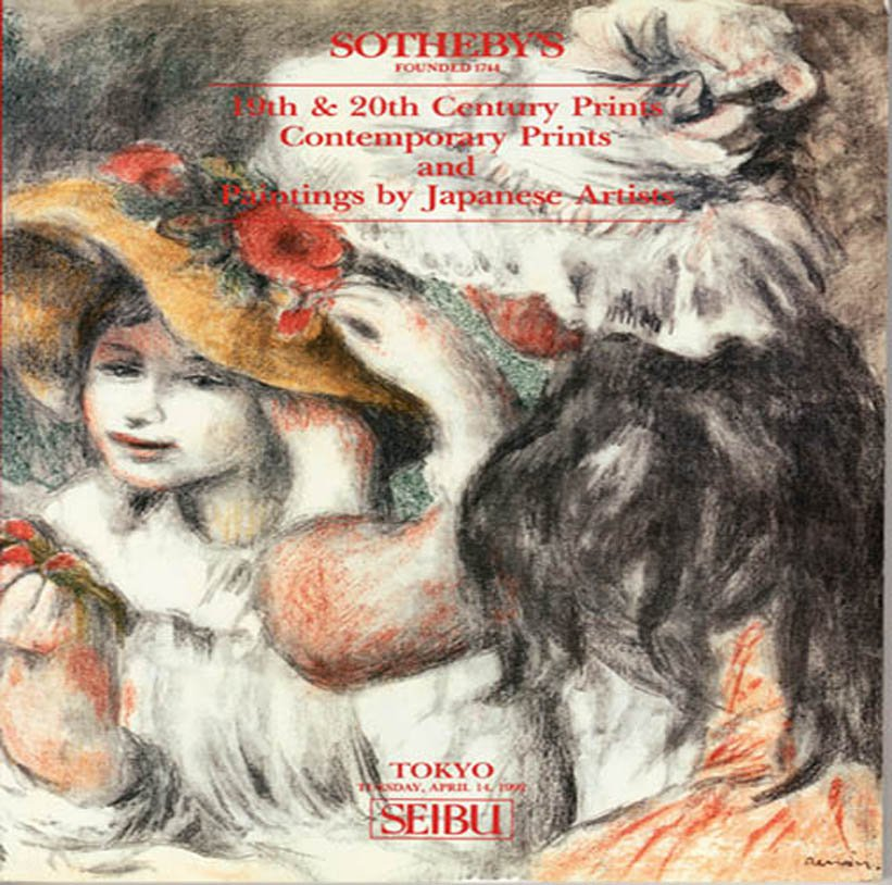 Sotheby's 19th & 20th Century Prints and Paintings by Japanese Artists Auction Catalog April 1992