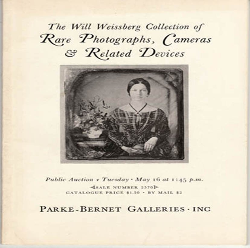 Parke-Bernet The Will Weissberg Collection of Rare Photographs Cameras & Related Devices