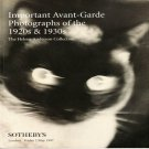 Sotheby's Important Avant-Garde Photographs of the 1920s and 1930s Auction Catalog May 1997