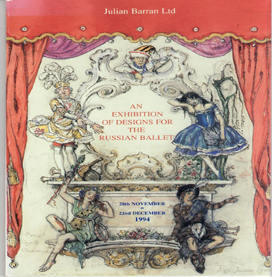 An Exhibition of Designs for the Russian Ballet  London Exhibition Catalog Softcover 1994