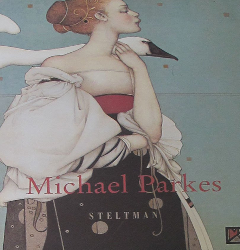 Michael Parkes Stone Lithographs - Bronze Sculptures 1982 - 1996 John Russell Taylor Softcover 1996