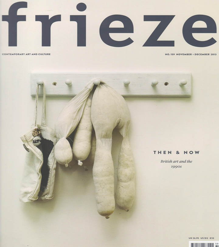 FRIEZE Contemporary Art and Culture Magazine Back Issue November December 2013