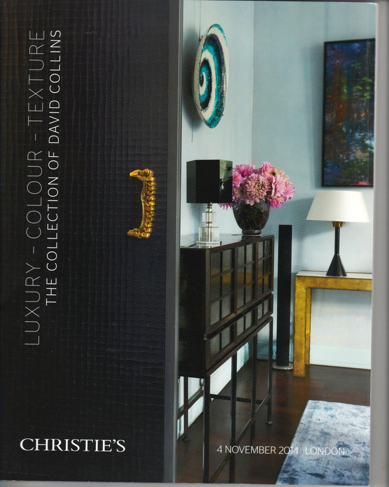 Christie's Luxury Colour Texture The Collection of David Collins Auction Catalog 2014