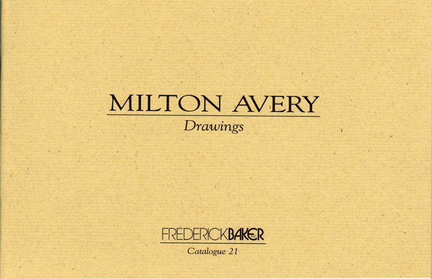 Milton Avery Drawings Catalogue 21 Exhibition Catalog Frederick Baker Softcover 2001