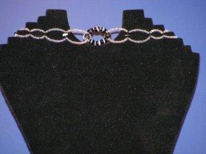 Handcrafted beaded  figure 8 choker
