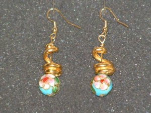 Handcrafted cloisenne beaded earrings