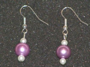 Handcrafted pearl earrings