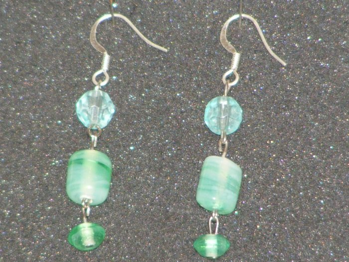 Handcrafted glass beaded earrings
