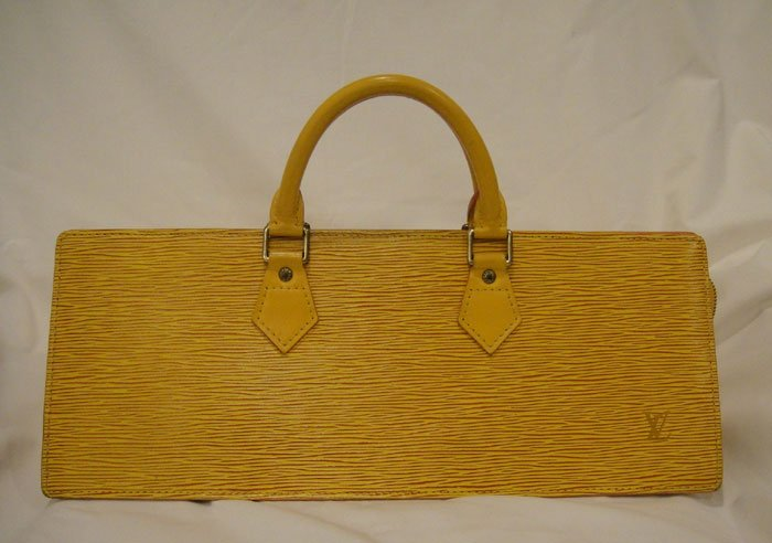 AUTHENTIC Pre Owned Louis Vuitton Yellow EPI Sac Triangle