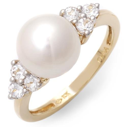 9mm Pearl & Sapphires Ring! Appraisal $599!