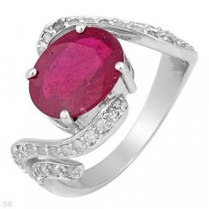 4.30ctw RUBY & Diamonds Ring! Appraised for $3,189!