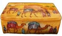 Yellow Camel Bone Jewelry Box