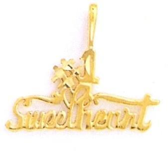 24K Gold #1 SWEETHEART Charm