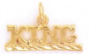 24K Gold KING Charm